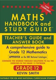 maths handbook and study guide teachers guide and answer book grade 12 rh eduguru co za